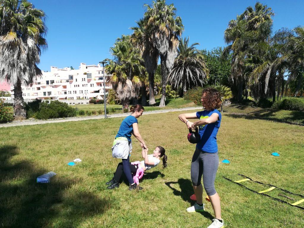 Aulas treino em família