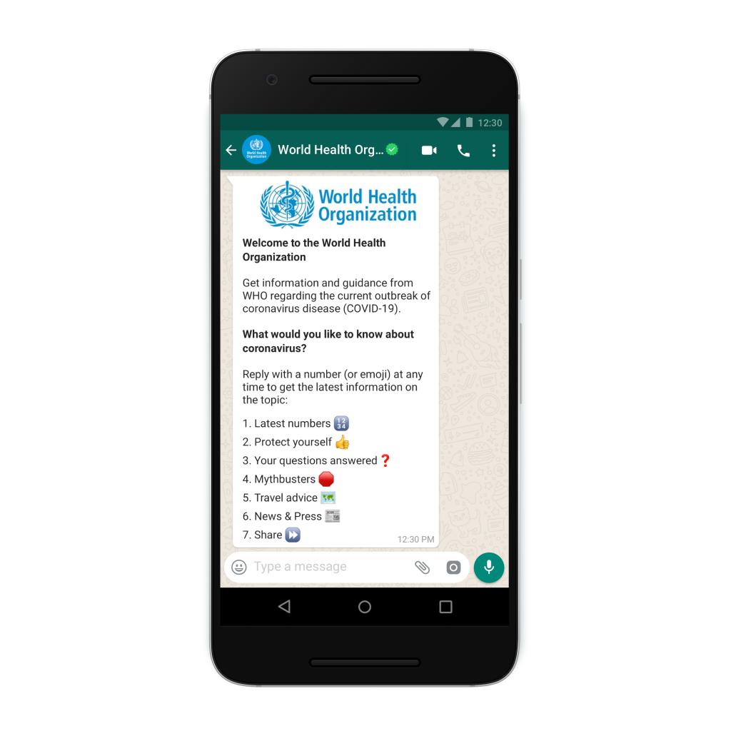 OMS lança serviço de chat no WhatsApp