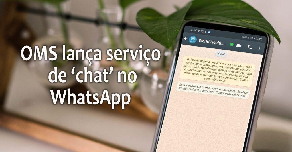 OMS lança serviço no WhatsApp